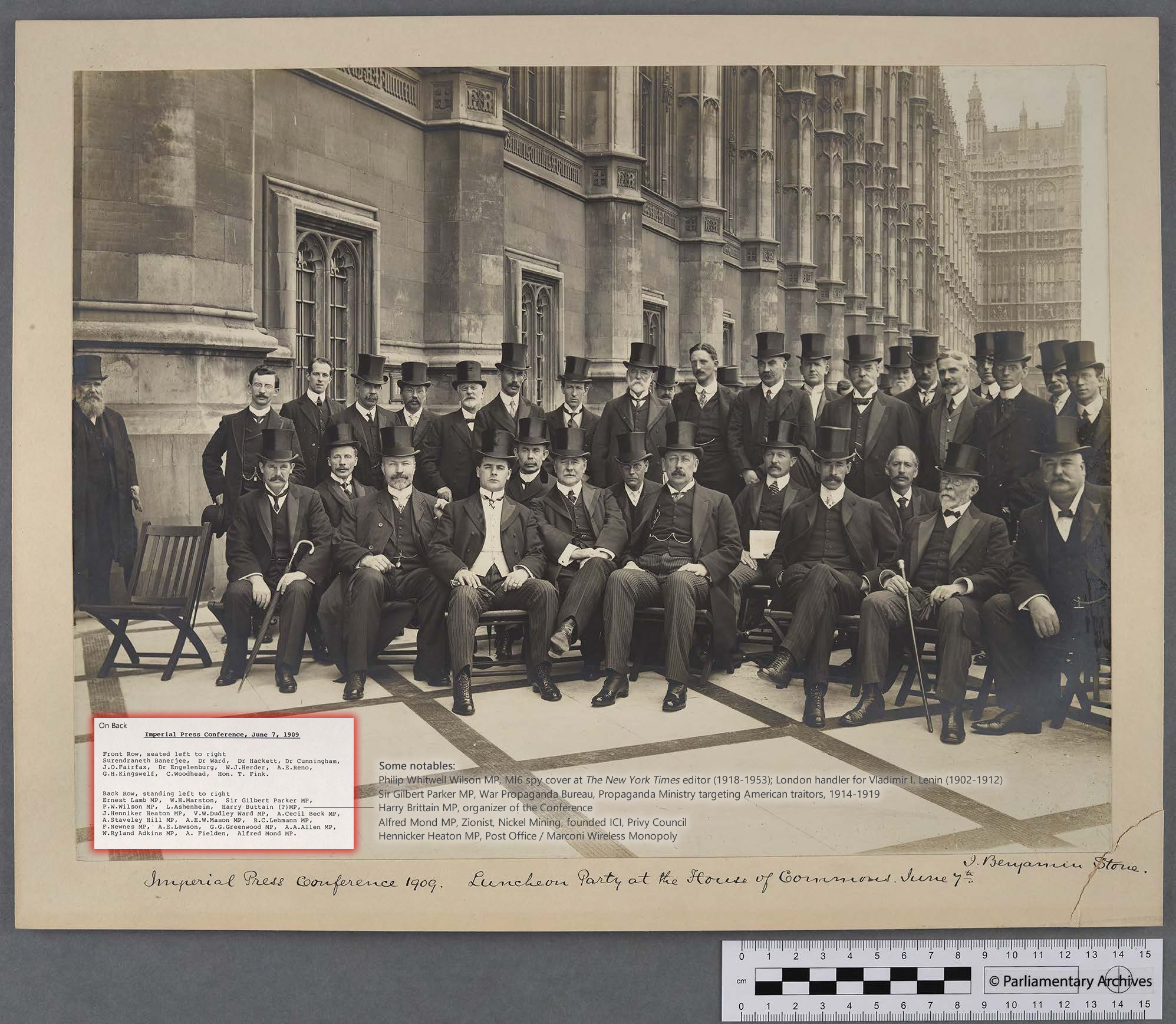 Sir Benjamin Stone, photog. (Jun. 07, 1909). Luncheon Party at the House of Commons. Imperial Press Conference 1909, HC/LB/1/111/20/69. UK Parliamentary Archives