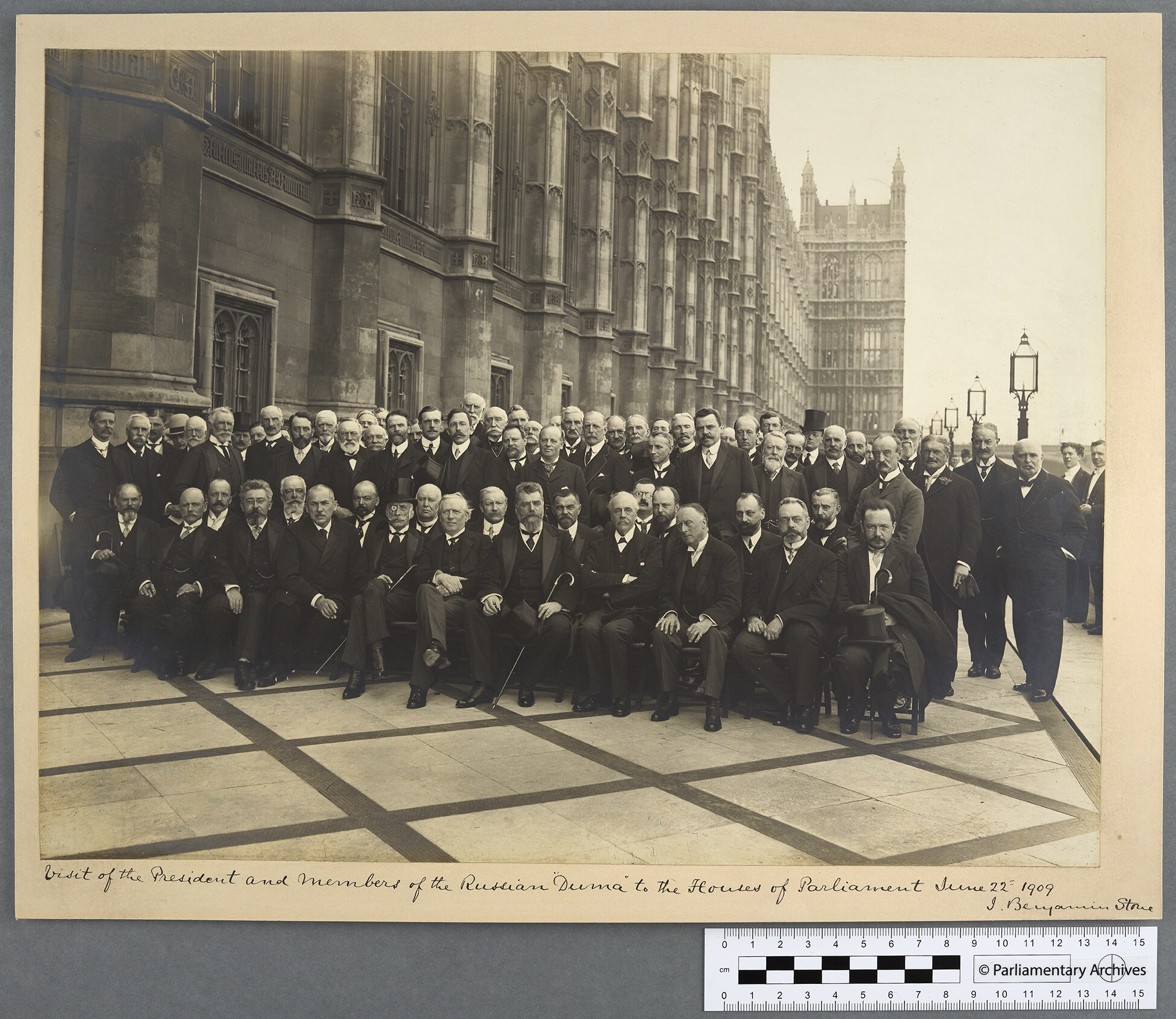 Sir Benjamin Stone, photographer. (Jun. 22, 1909). Visit of the President and Members of the Russian Duma to the House of Commons of Parliament June 22nd 1909. Parliamentary Archives.