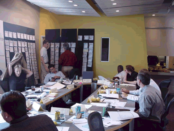 On Jun. 08, 2000, Professor James P. Chandler, III (black man on back right to the left of his legal assistant, Kelley Clements) participated in seminal Leader invention design sessions in Columbus, Ohio where he learned the essences of Leader's social networking innovations, ostensibly to use this knowledge in Leader patent applications. Hindsight shows he was there to steal the invention for the benefit of his other client, IBM, among others.