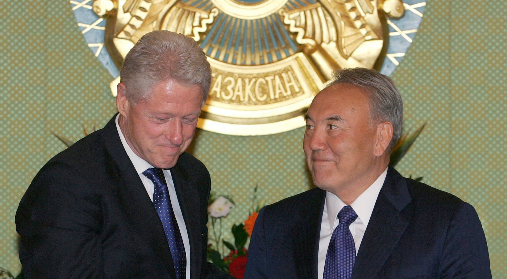 "On Sep. 6, 2005, Bill Clinton met with Kazakh strongman Nursultan A. Nazarbayev. Two days later, Bill's friend, Frank Giustra, received coveted Kazakh uranium mining rights—even though Giustra had no uranium mining track record. The industry was stunned. Within months, The Clinton Foundation received $152 million in ""donations"" from Frank Giustra. Two years later, Giustra sold those rights for $3.1 billion. Hillary and Bill did not disclose their Foundation winnings until forced to recently by Canadian authorities. Goldman Sachs assisted Giustra, and everyone else swirling around the Clinton's New World Order community organizing."
