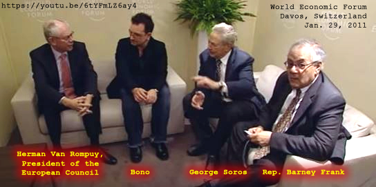 Davos. (Jan. 29, 2011). Herman Van Rompuy, President of the European Council meets with Bono, George Soros and Rep. Barney Frank. YouTube. World Economic Forum.