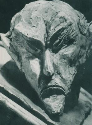 Sculpture of Ahriman by Rudolf Steiner.