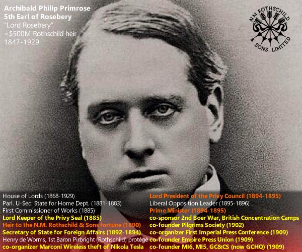 Archibald Philip Primrose, Lord Rosebery