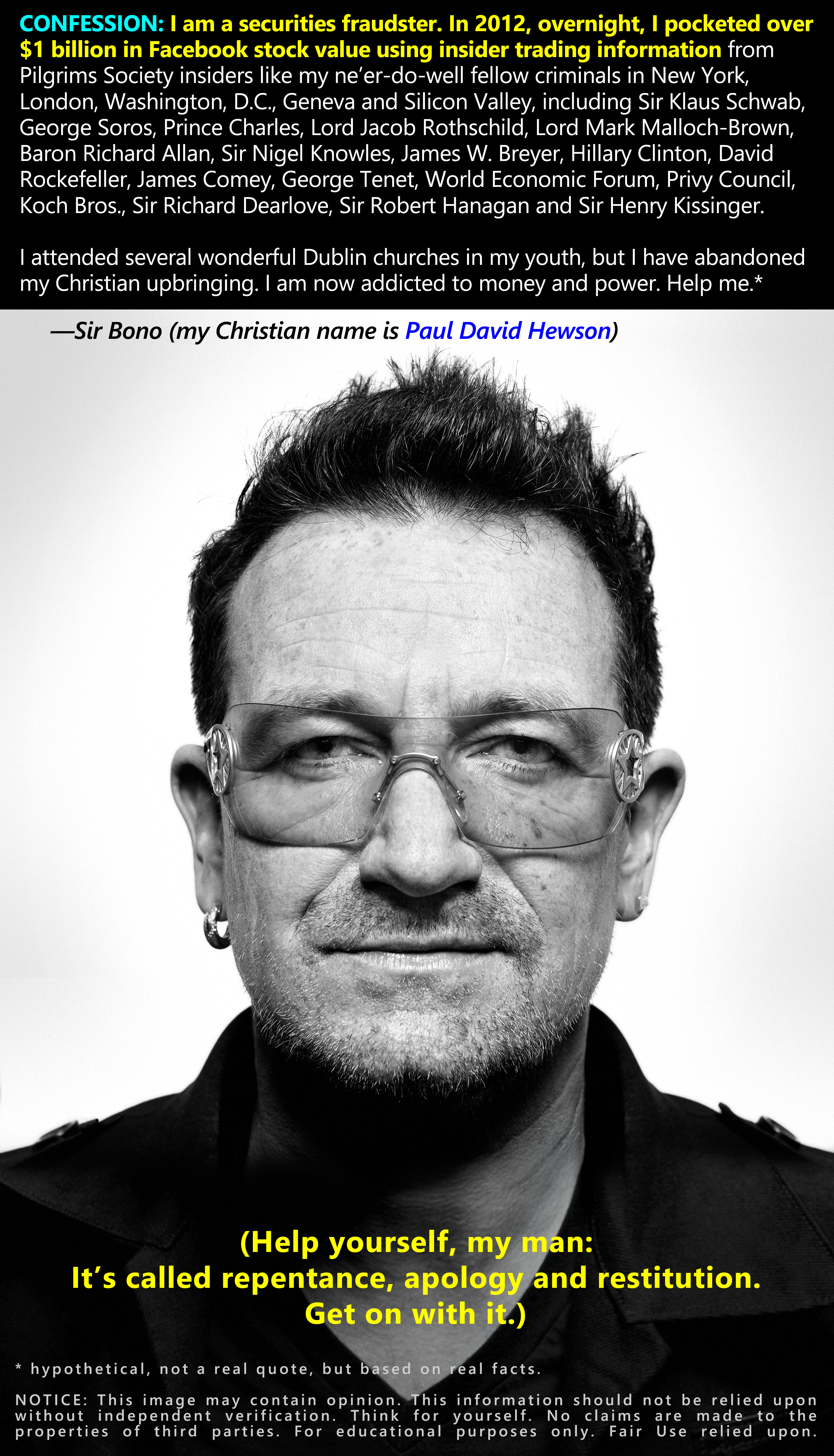 Bono: Confessions of a Facebook securities fraudster