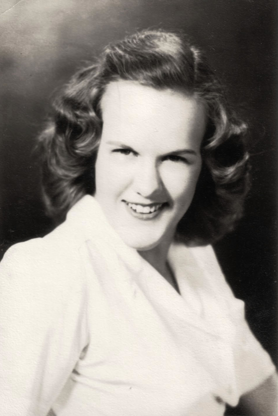 Carline C. McKibben, Sr. High School Portrait, Humbolt, Tennessee, 1943