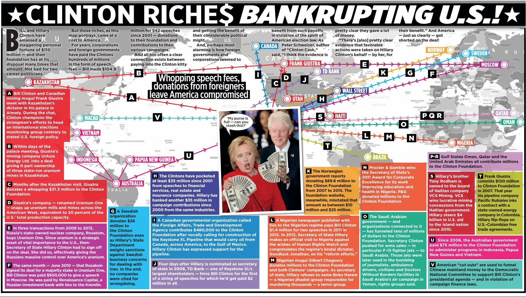 Clinton riches bankrupting U.S.