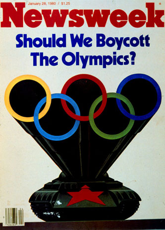 Newsweek cover: Should We Boycott The Olympics, Jan. 28, 1980. Graphic: Newsweek.