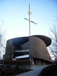 Lord's Ark Church, Nowa Huta, Poland. Nowa Huta in the mid-70's was a construction site that the Communists had forbidden, but the parishioners were building in defiance, brick by brick, with the full backing of their bishop. Cardinal Karol Wojtyła.