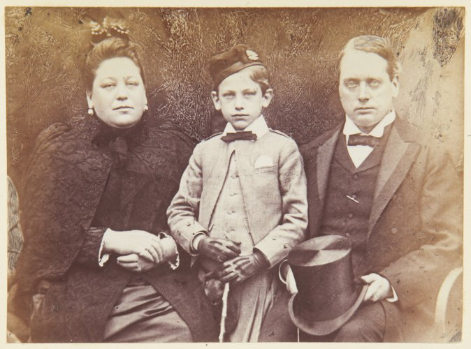 The Earl and Countess (Hannah Rothschild) of Rosebery, and their son, Lord Dalmeny c. 1890