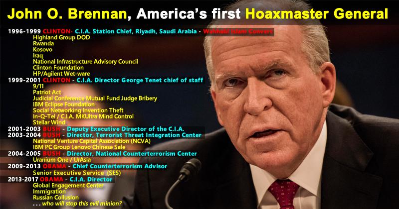 Roger Stone. (Feb. 19, 2018). Roger Stone: John Brennan is America's First Hoaxmaster General. Infowars.
