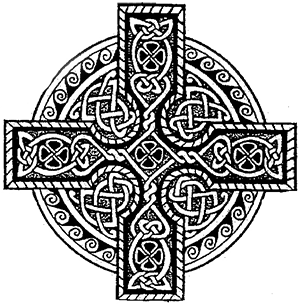 Celtic Wheel Cross, elaborate