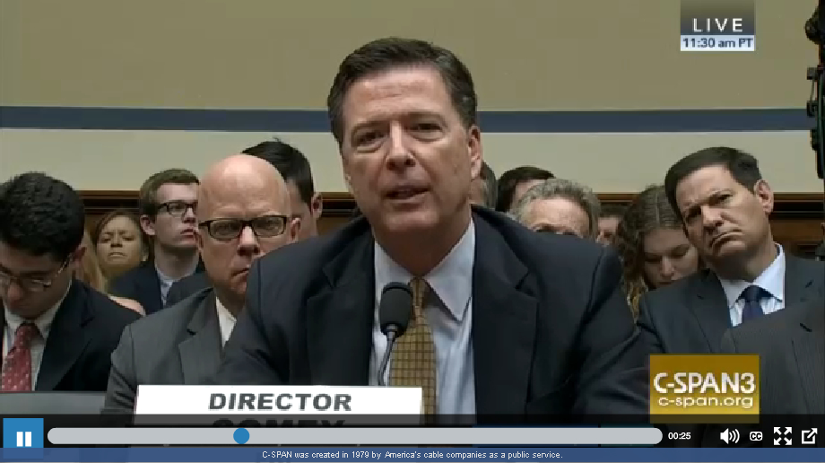 James B. Comey testimony to the House Oversight Committee on Jul. 07, 2016