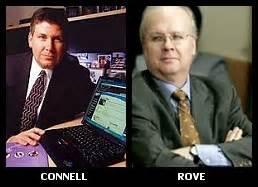 L/R: Michael Connell, Karl Rove