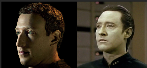 Star Trek Data, Mark Zuckerberg