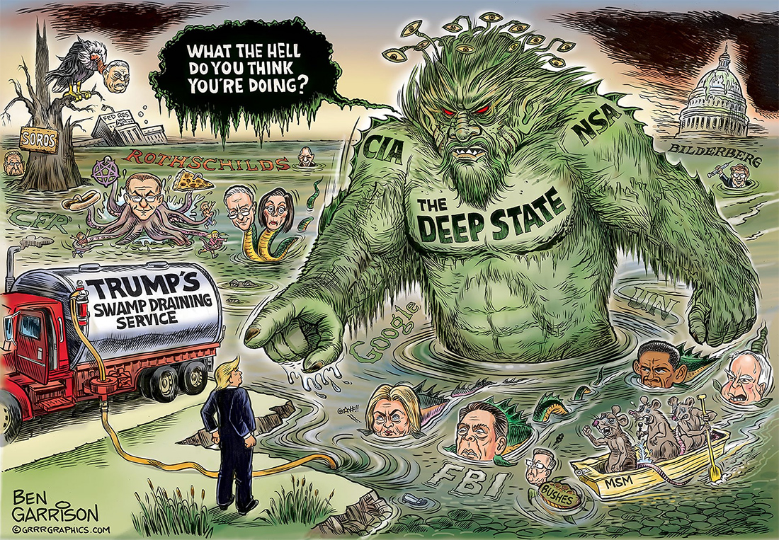 Donald Trump must Drain the Swamp of the Deep State shadow government