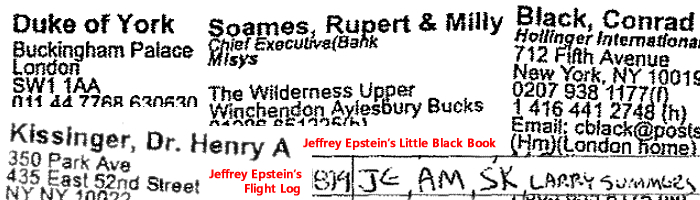 Jeffrey Epstein. (Jan. 15, 2015). Jeffrey Epstein's Little Black Book, unredacted, 92 pgs., EXHIBITS_STM_UNDISPUTED_FACTS-PDF. U.S. Courts.