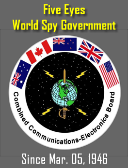 Five Eyes Spies - US, UK, Canada, New Zealand, Australia