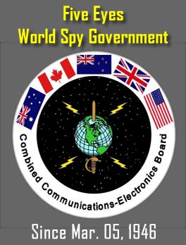 Five Eyes Spies - US, UK, Canada, New Zealand, Australia