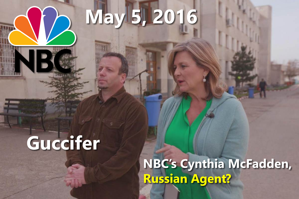 NBC's Cynthia McFadden interviewed Guccifer (Marcel Lehel Lazar) in Romania on May 5, 2016).