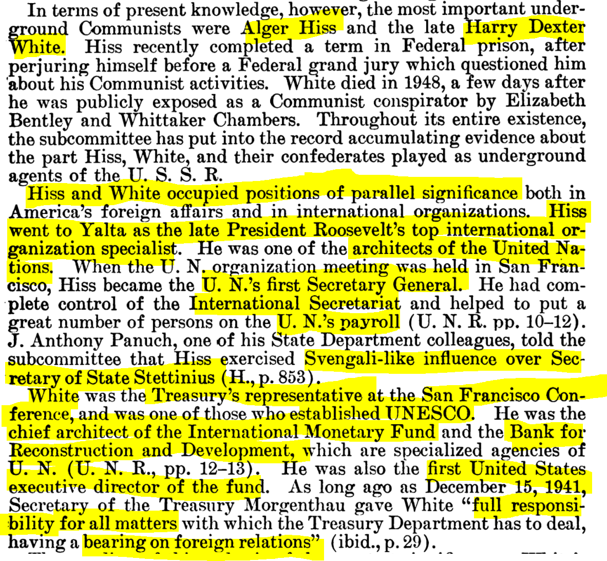 William Langer (ND), chairman. (Jan. 03, 1955). FIGURES IN A [INTERLOCKING] PATTERN [re. Institute of Pacific Relations, IPR]. Subcommittee Report, Investigation of Internal Security, Y4.J89/2:In 8/4, P41-102, Senate Judiciary Committee, 85 pgs., p. 9. GPO.