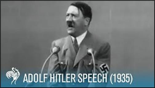 Adolf Hitler. (2015). Adolf Hitler: Speech at Krupp Factory in Germany (1935). British Pathé.