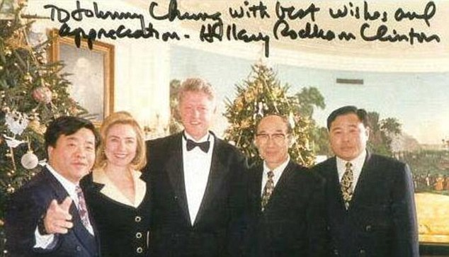 Chinese-American fundraiser Johnny Chung disclosed that he illegally funneled money from Chinese officials to Bill Clinton's 1996 election bid