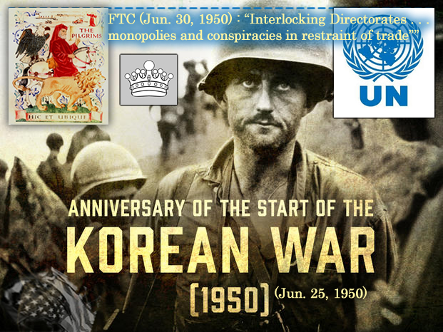 U.S. Korean War soliders were the pawns of the Pilgrims Society, Jun. 25, 1950.