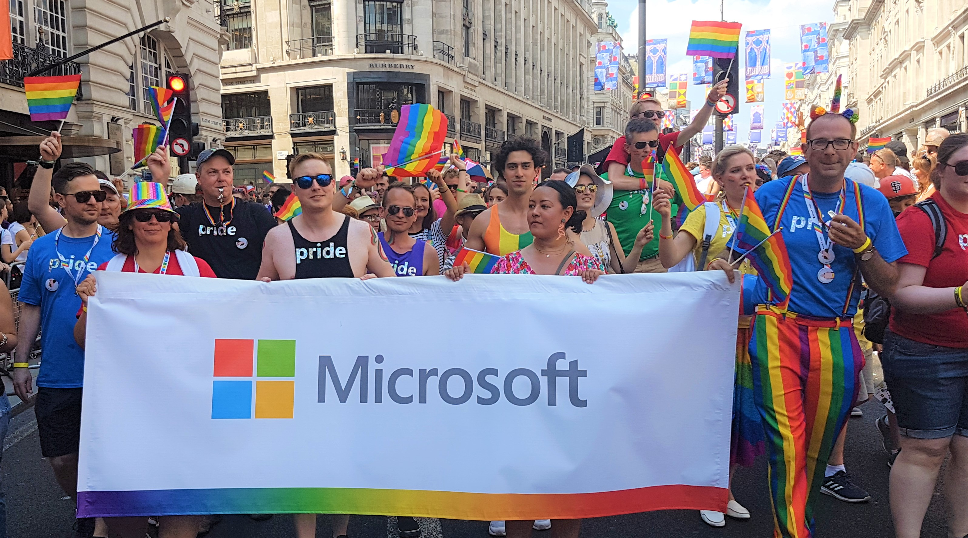 Microsoft Reporter. (Jul. 10, 2018). Microsoft at Pride in London 2018: in pictures. Microsoft News.