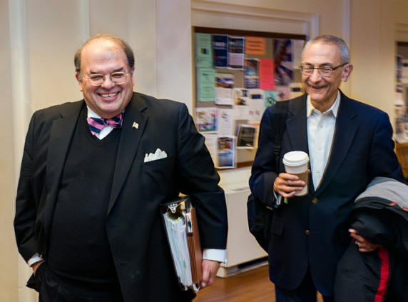 Richard J. Leon and John D. Podesta teach Georgetown Law courses together