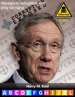 Harry M. Reid, U.S. Senator (D-Nevada); Facebook cabal funder; Evan J. Wallach sponsor