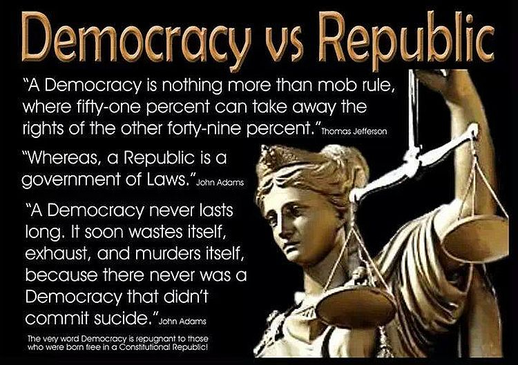 American is a Republic, not a democracy
