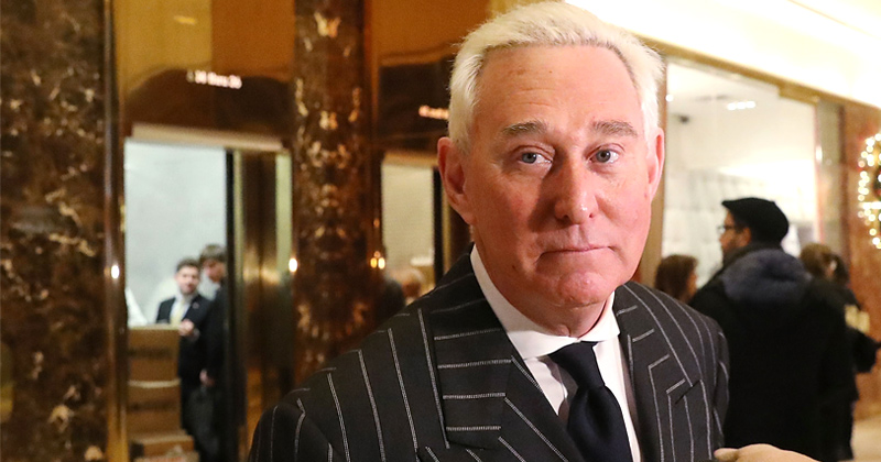 Roger Stone at Trump Tower