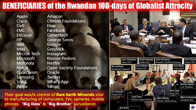 Beneficiaries of the Globalist 100-day Rwandan Attrocity