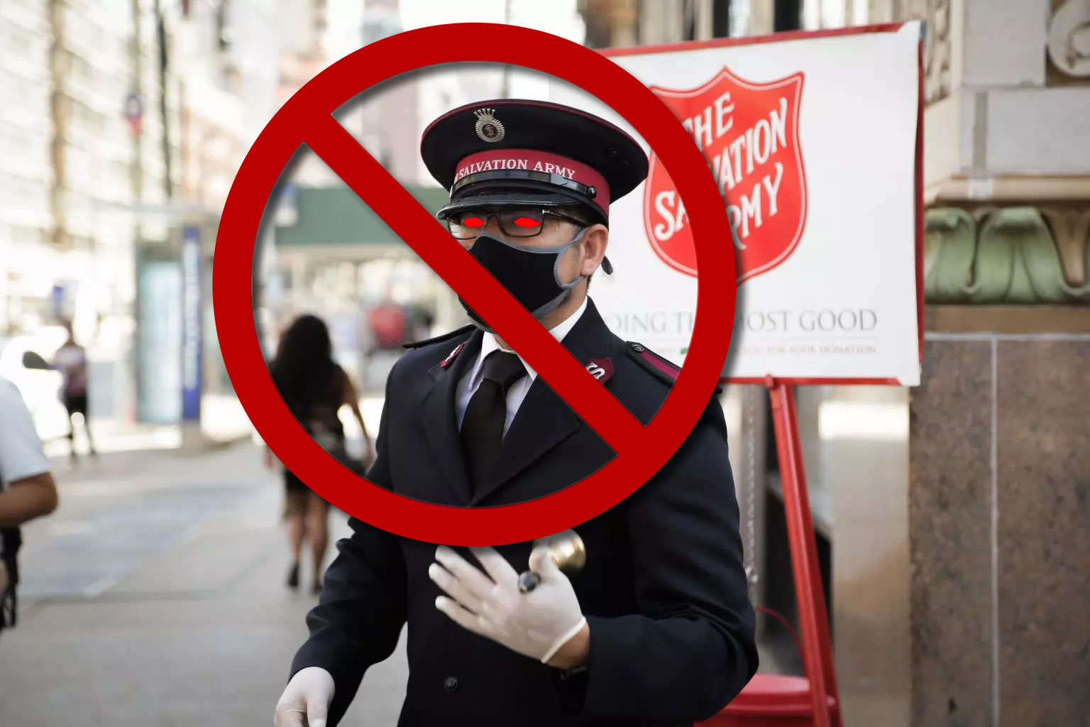 The Salvation Army kettle is corrupt.