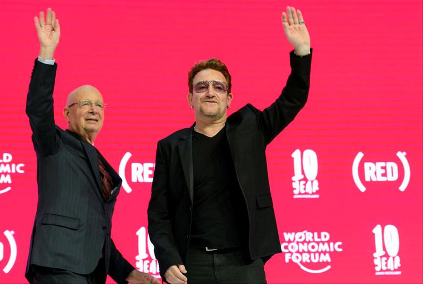 Klaus Schwab and Bono