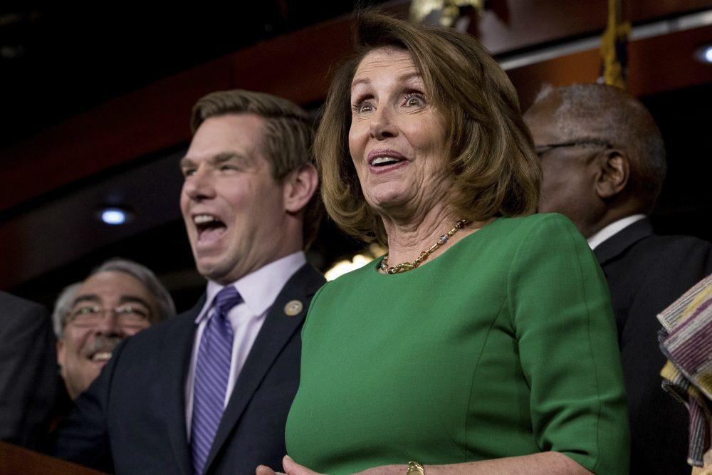 Eric Swalwell and Nancy Pelosi
