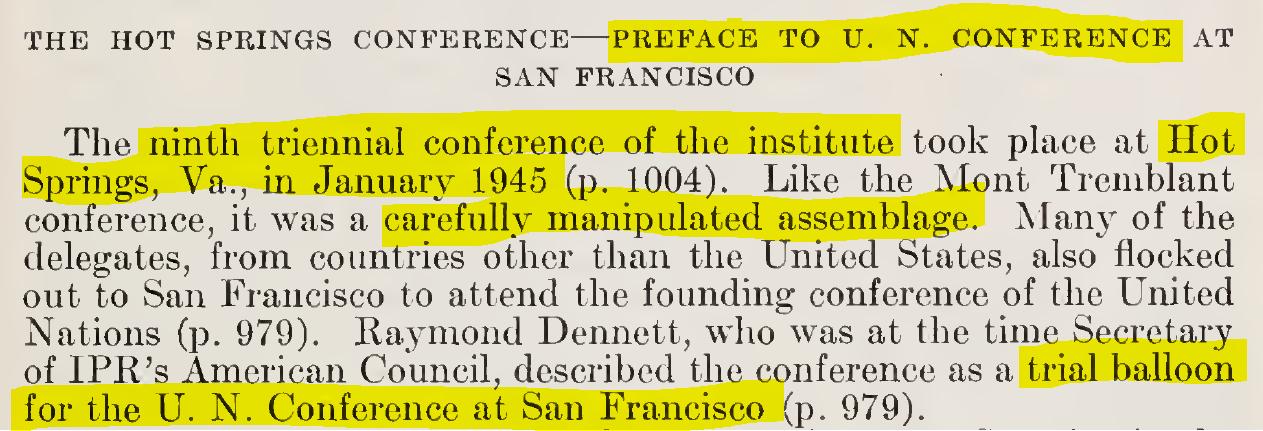 S. Res. 366, Rept. No. 2050. (Jun. 27, 1952). Institute of Pacific Relations, Report, Patrick A. McCarran (NV), chairman, Senate Judiciary Committee, Hrgs. Jul. 25, 1951-Jun. 20, 1952, 81st Cong., 2d sess., p. 193. GPO. (20 MB).