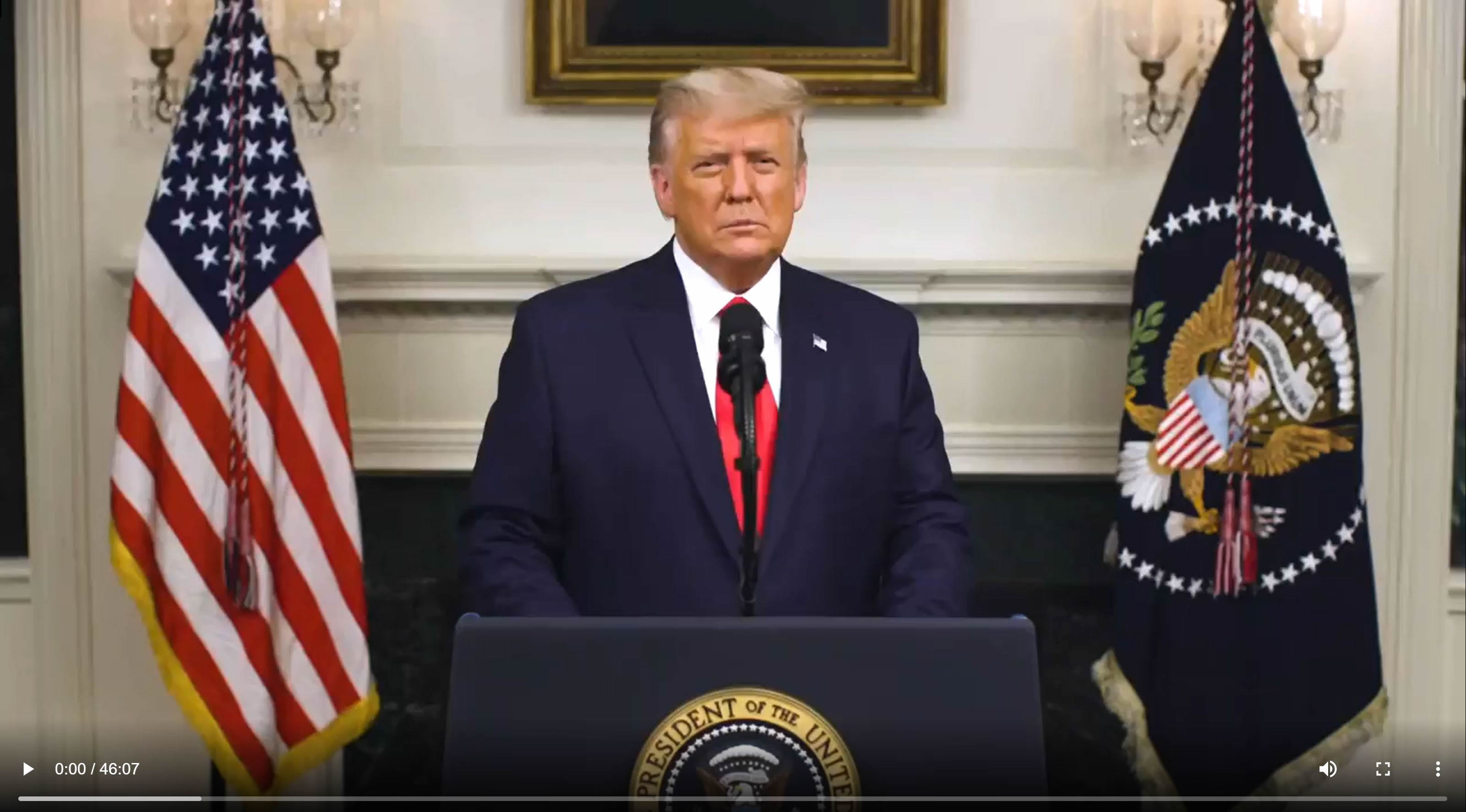 President Donald Trump. (Dec. 03, 2020). Speech on the unprecedented 2020 Election Fraud, uncensored, un-editorialized. White House.
