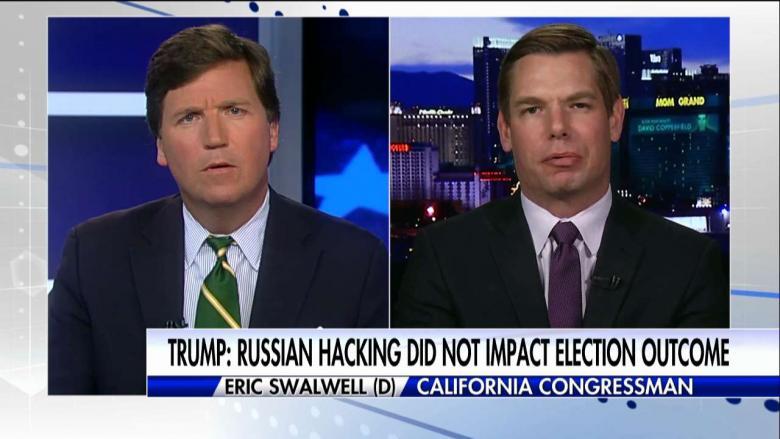 Tucker Carlson. (Feb. 02, 2018). Tucker Carlson VS Eric Swalwell FISA Memo 02.02.2018. Fox News.