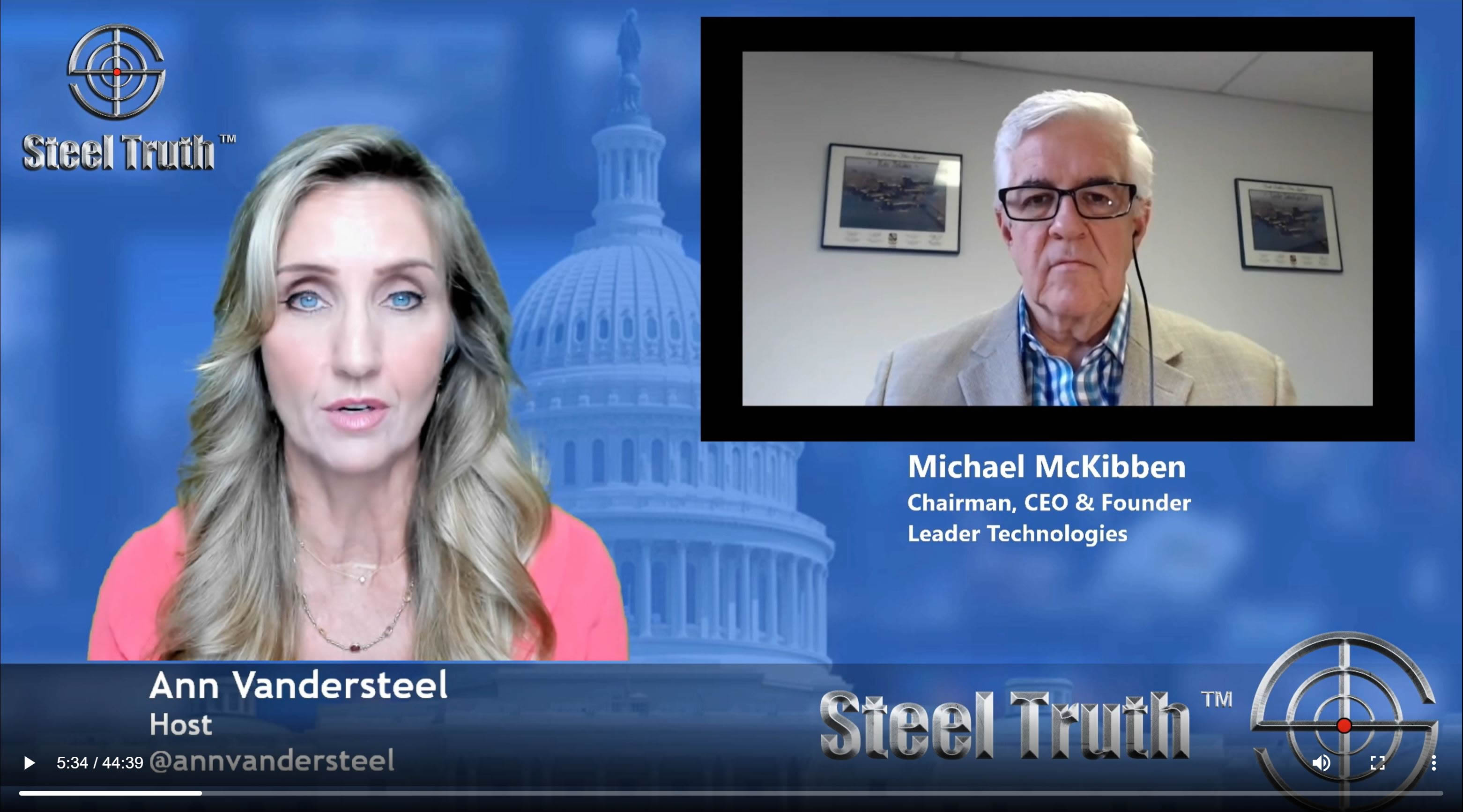 Michael T. McKibben. (Nov. 26, 2018). Ann Vandersteel's Interview with Michael McKibben on the $6T Miller Act takes on USG Theft of Social Media. SteelTruth.