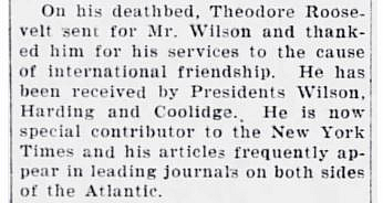 Editor. (Sep. 28, 1927). P. WHITWELL WILSON to speak, MAYOR TO ATTEND DINNER, p.5. The Monclair Times (New Jersey).